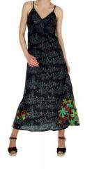 Robe longue originale imprim�e tendance noir 245150