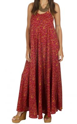 Robe longue rouge femme à dos nu Karma