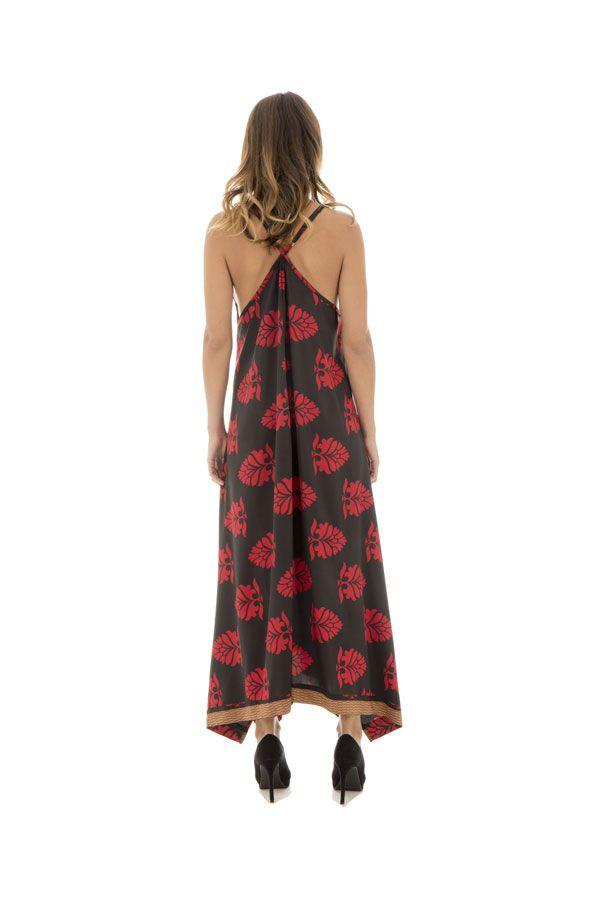 robe longue sensuelle avec col plongeant et motifs originaux IduunSkadi 289781