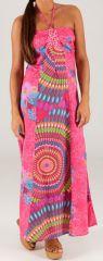Robe longue Tour de cou Ethnique et Colorée Célia Rose Flash 279505