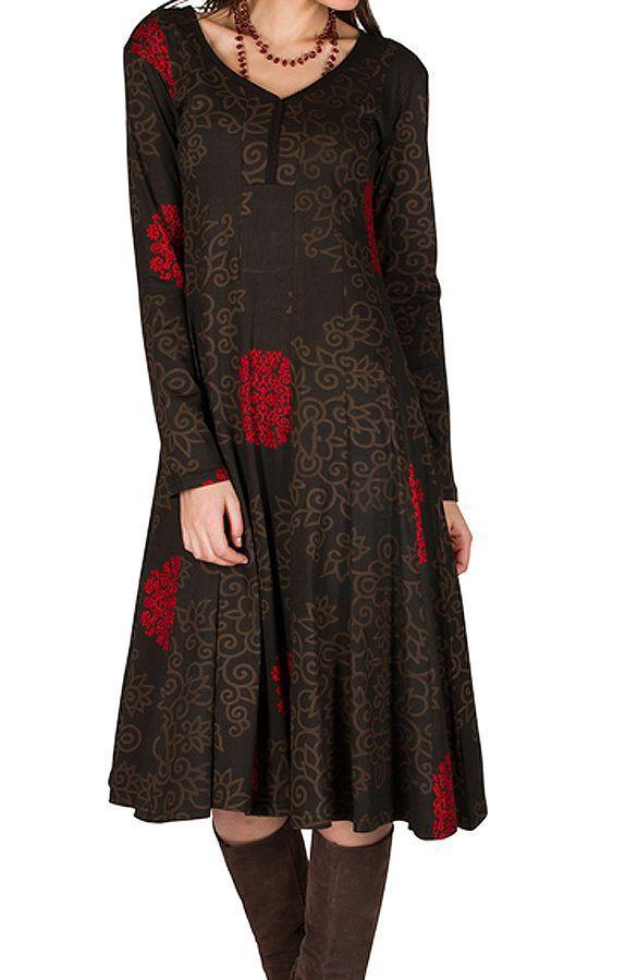 Robe mi-longue avec imprimé floral Pommy 314584