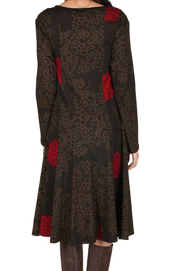 Robe mi-longue avec imprimé floral Pommy 314586
