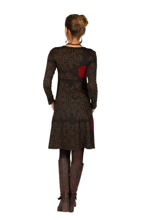 Robe mi-longue avec imprimé floral Pommy 314587