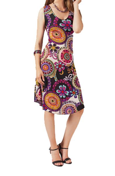 Robe mi-longue colorée cindy 267490