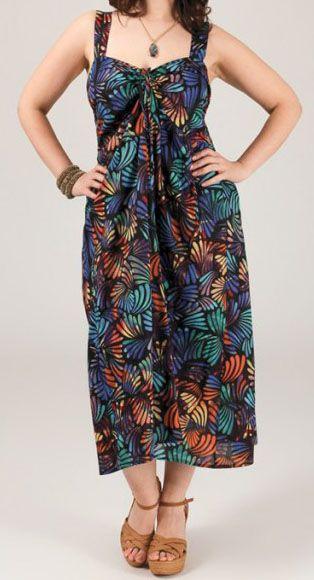 Robe mi-longue colorée grande taille Linoa 269482