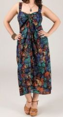 Robe mi-longue color�e grande taille Linoa 269482