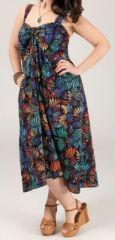 Robe mi-longue colorée grande taille Linoa