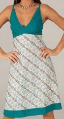 Robe mi-longue d'été Originale et Imprimée Opaline Blanche 276741