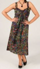 Robe mi-longue ethnique grande taille Linette 269480