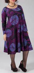 Robe mi-longue Femme ronde Ethnique et Color�e Kaitlyn Violette 274913