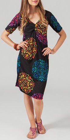 Robe mi-longue style ethnique tendance Margaux 4 271727