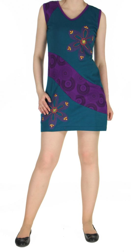 Robe mode ethnique bleue Marina 268824