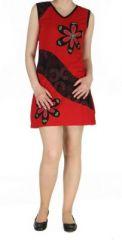 Robe mode ethnique rouge Marina 268826