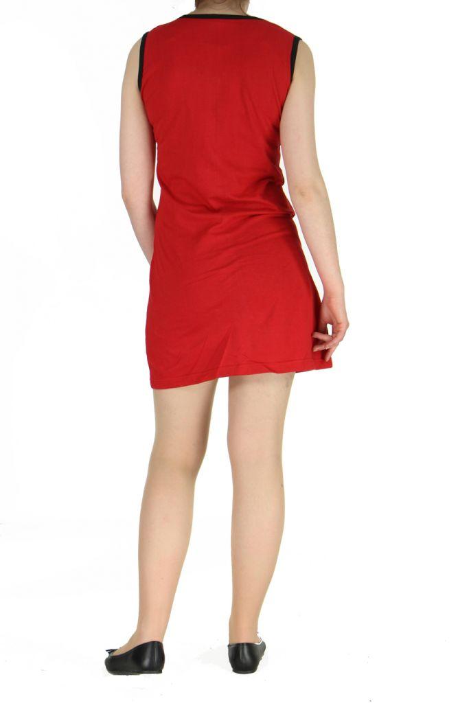 Robe mode ethnique rouge Marina 268827