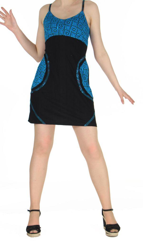 Robe noire courte à dos-nu Clara 268768