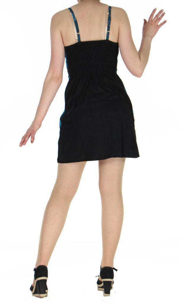 Robe noire courte à dos-nu Clara 268769