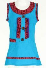 Robe originale bébé et fille bleue Froufrou 270959