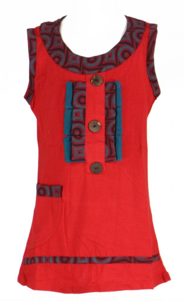 Robe originale bébé et fille rouge Froufrou 270963