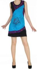 Robe originale bleue ethnique du N�pal pas ch�re Mariona 270476
