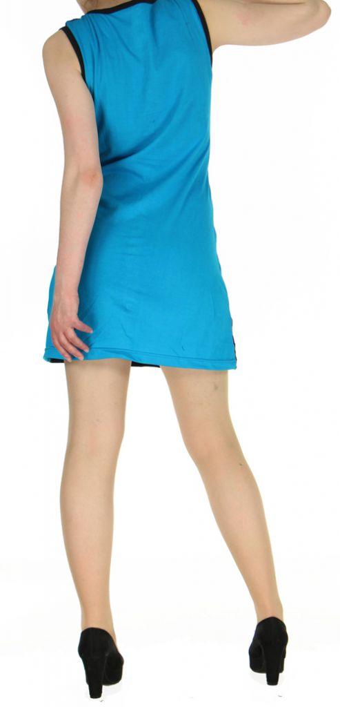 Robe originale bleue ethnique du Népal pas chère Mariona 270477