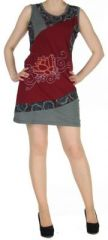 Robe originale bordeaux ethnique du N�pal pas ch�re Mariona 270478