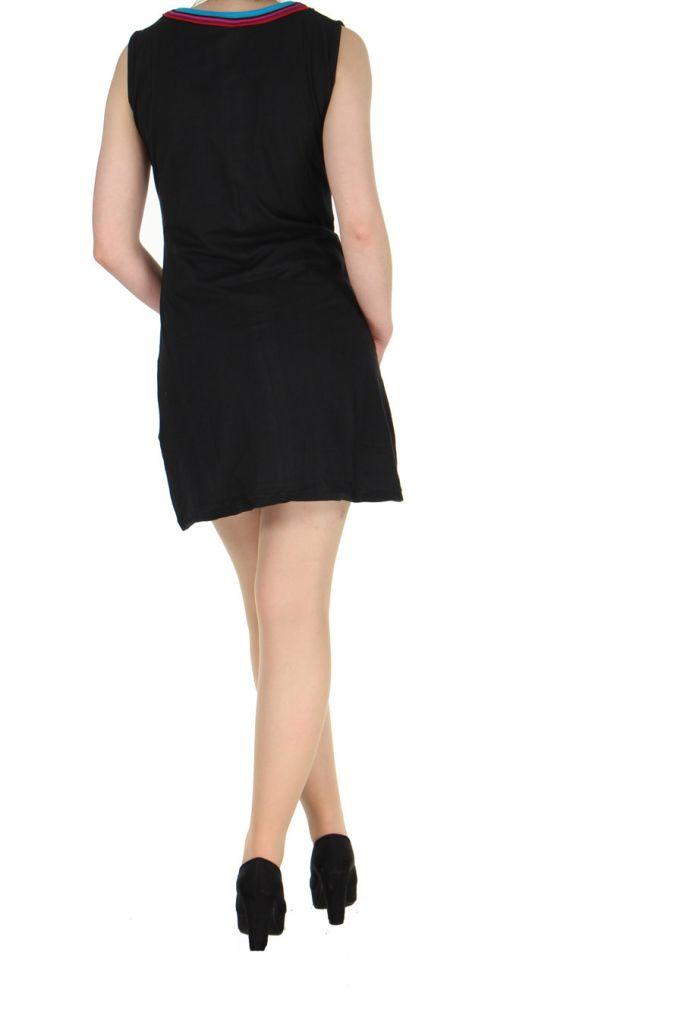 Robe originale colorée noire Kélina 268480