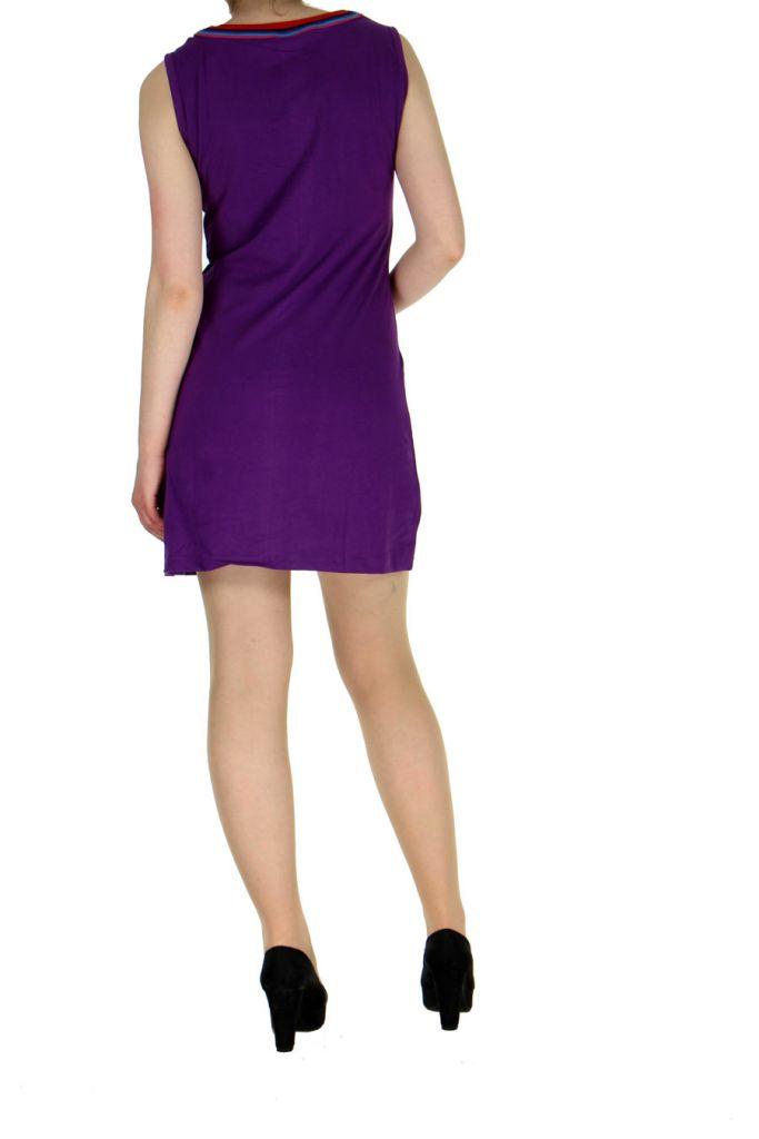 Robe originale colorée violette Kélina 268482