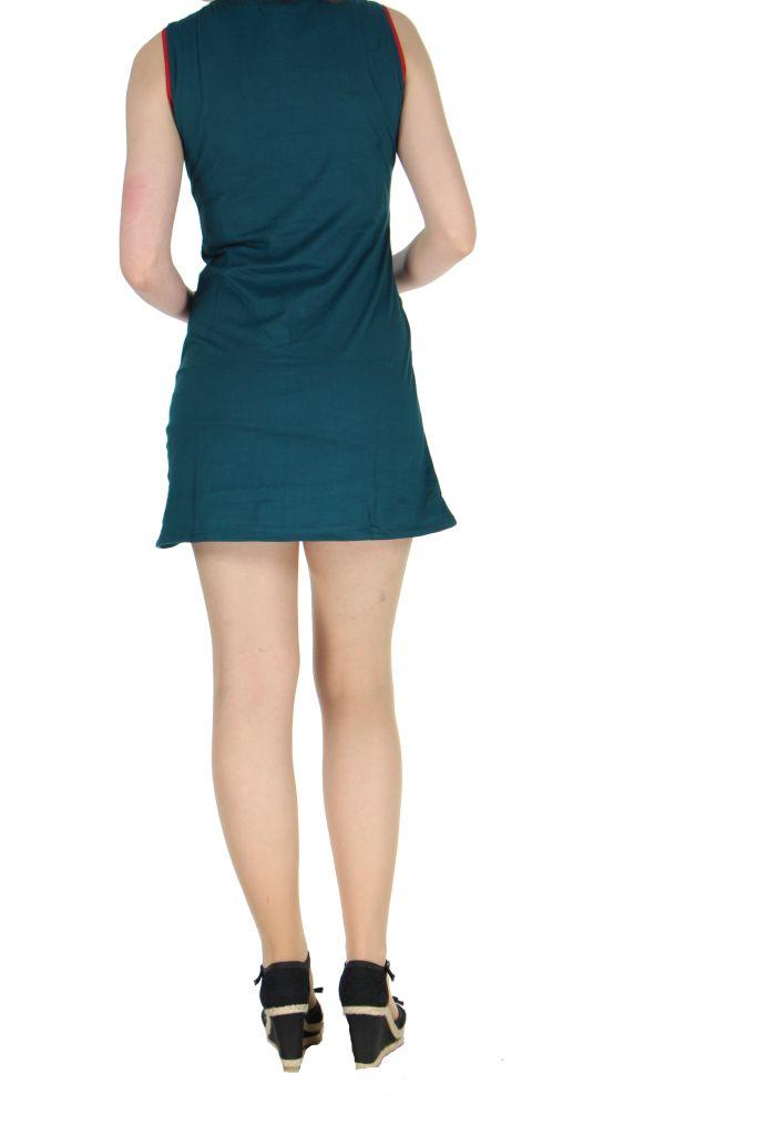 Robe originale courte bleue Tania 268364