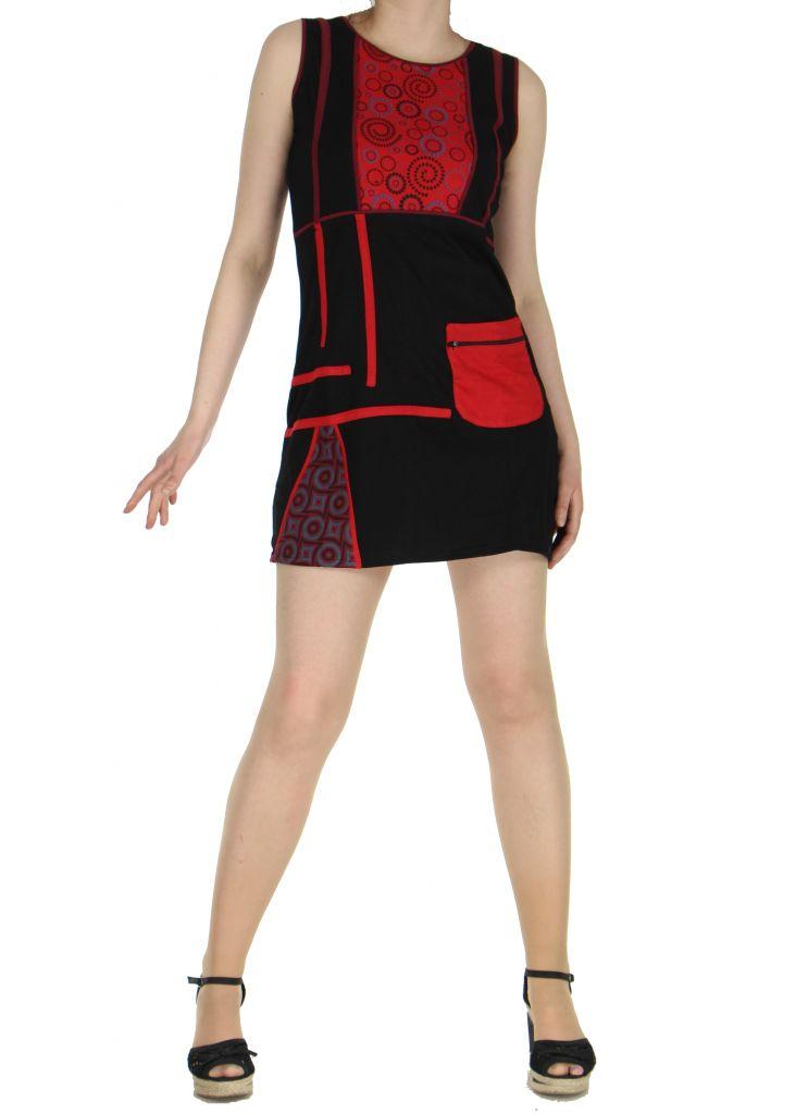 Robe originale courte noire Tania 268361