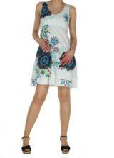 Robe originale d'�t� blanche Elodie 268277