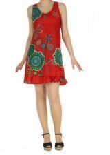 Robe originale d'�t� rouge Elodie 268273