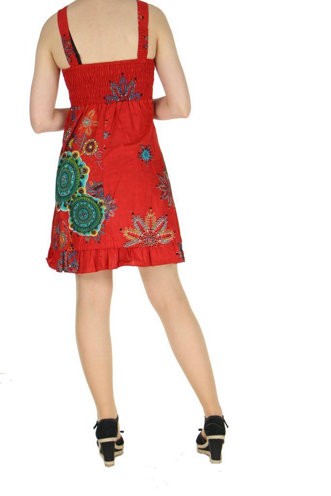 Robe originale d'été rouge Elodie 268274