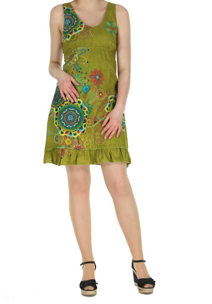 Robe originale d\'été verte Elodie 268281