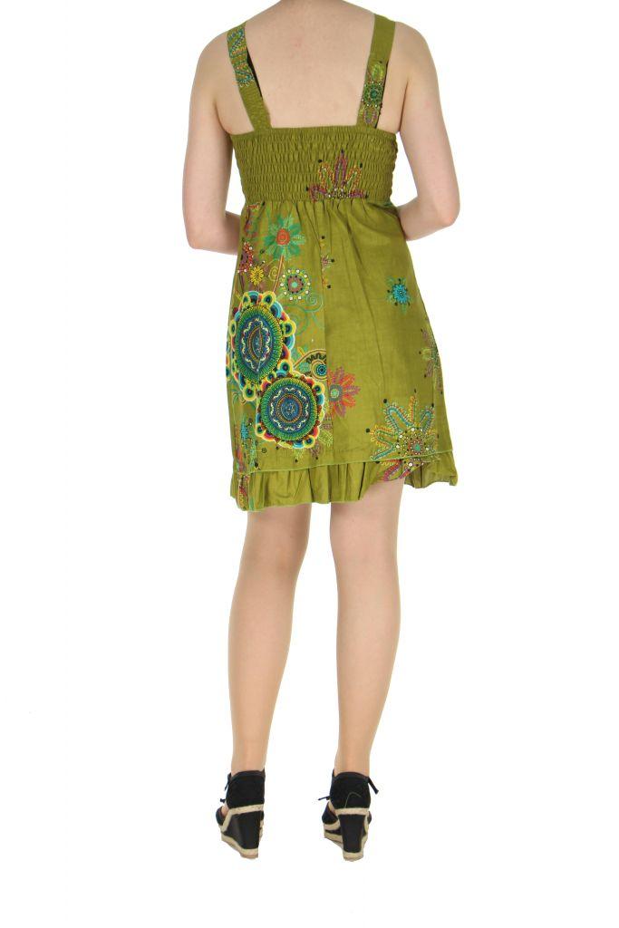 Robe originale d\'été verte Elodie 268282