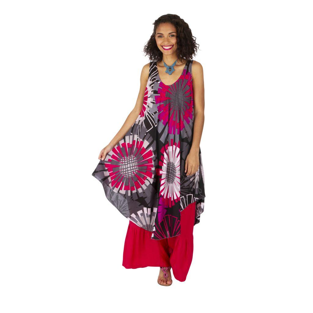 Robe originale effet tunique longue sur un pantalon Mathiya 317004