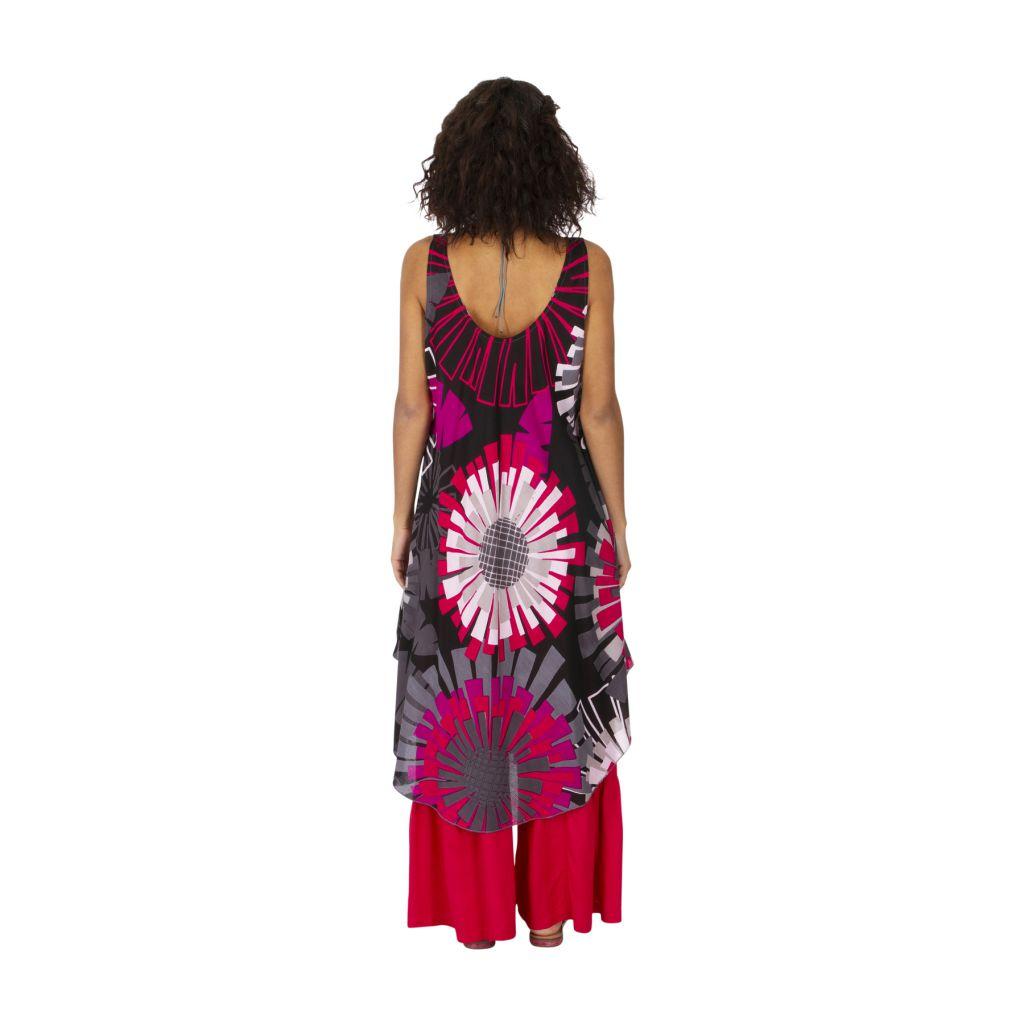 Robe originale effet tunique longue sur un pantalon Mathiya 317005