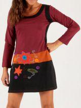 Robe Originale et Colorée d'hiver Levanzo Framboise 279711