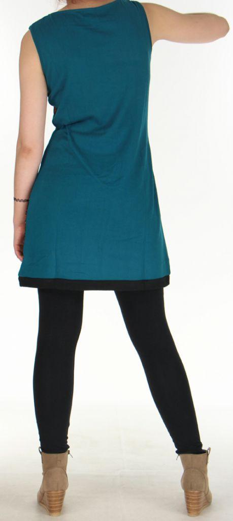 Robe Originale et Colorée en maille sans manches Tatiana Emeraude 276412
