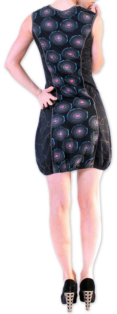 Robe Originale et Imprimée courte pour l'été  Dounnia Noire 276920