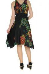 Robe originale florale noire Lisandre 269982