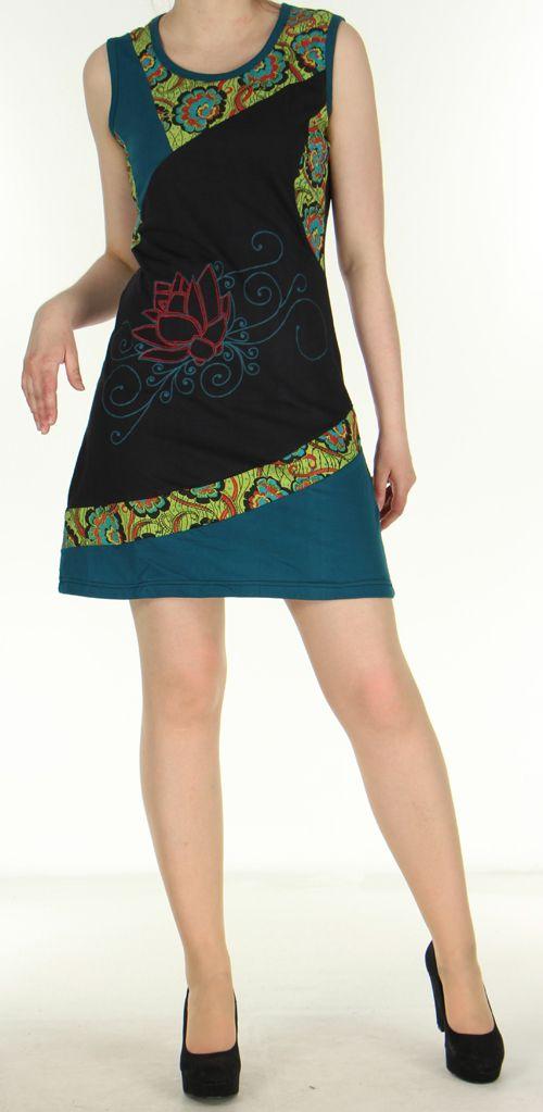 Robe originale noire ethnique du Népal pas chère Mariona 270480