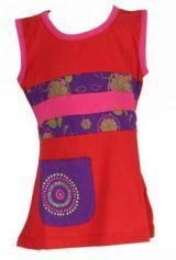 Robe originale pour b�b� et enfant rouge Sia 269600