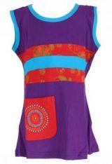 Robe originale pour bébé et enfant violette Sia 269605