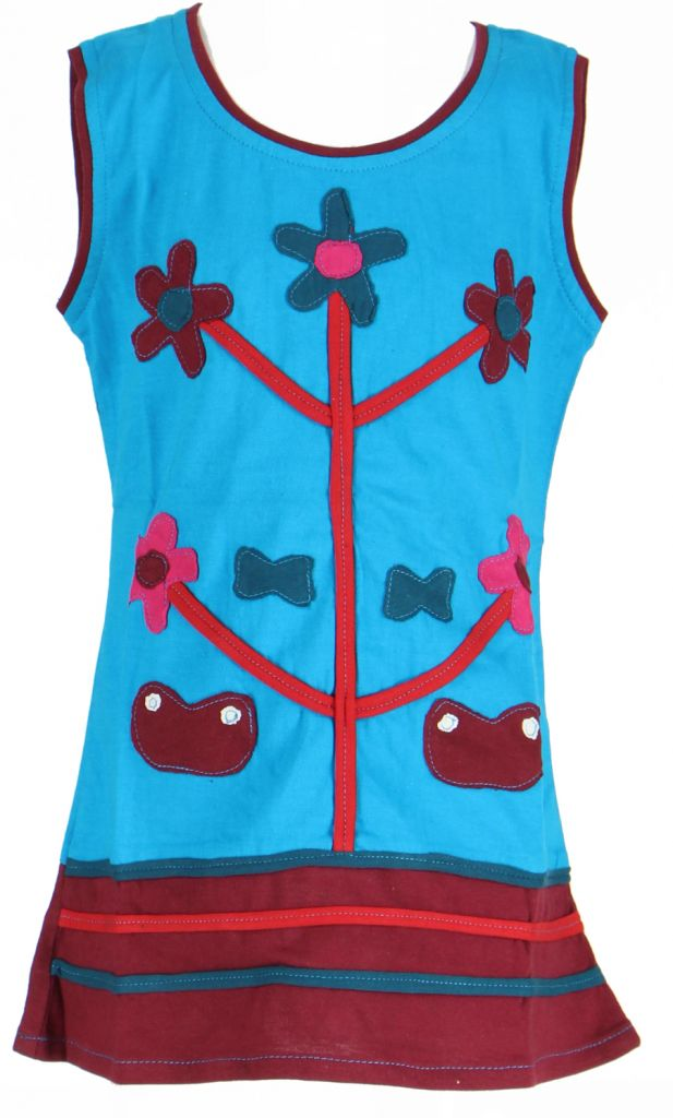 Robe originale pour enfant bleue Fabiola 269557