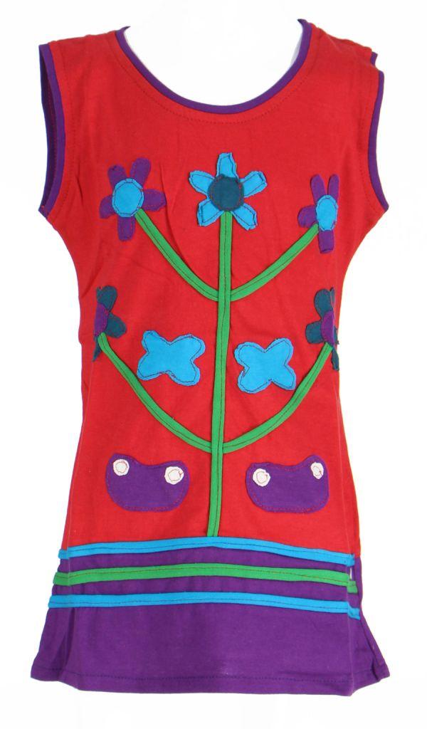 Robe originale pour enfant rouge Fabiola 269568