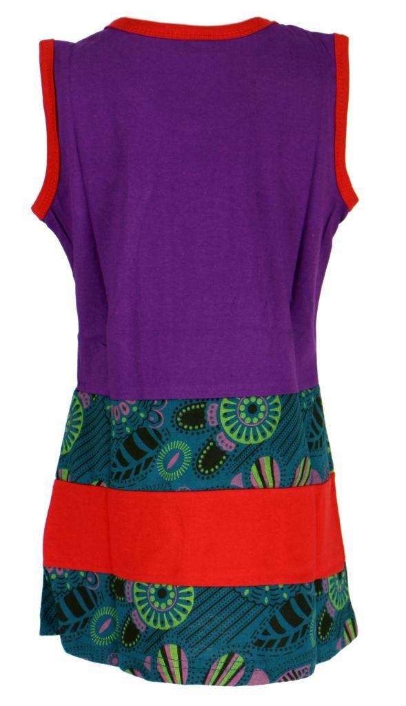 Robe originale violette pour fillette Sara 268648