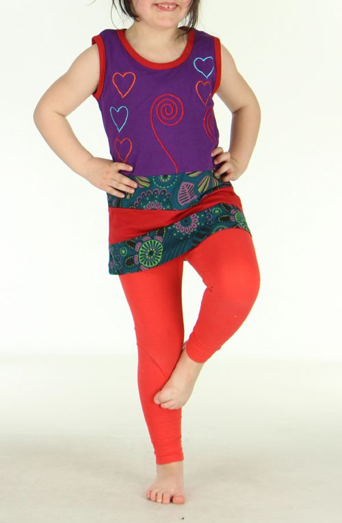 Robe originale violette pour fillette Sara 270792