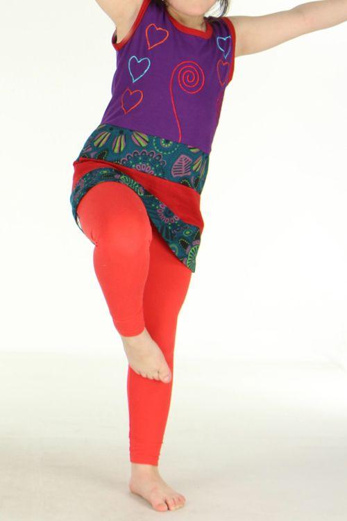Robe originale violette pour fillette Sara 270793