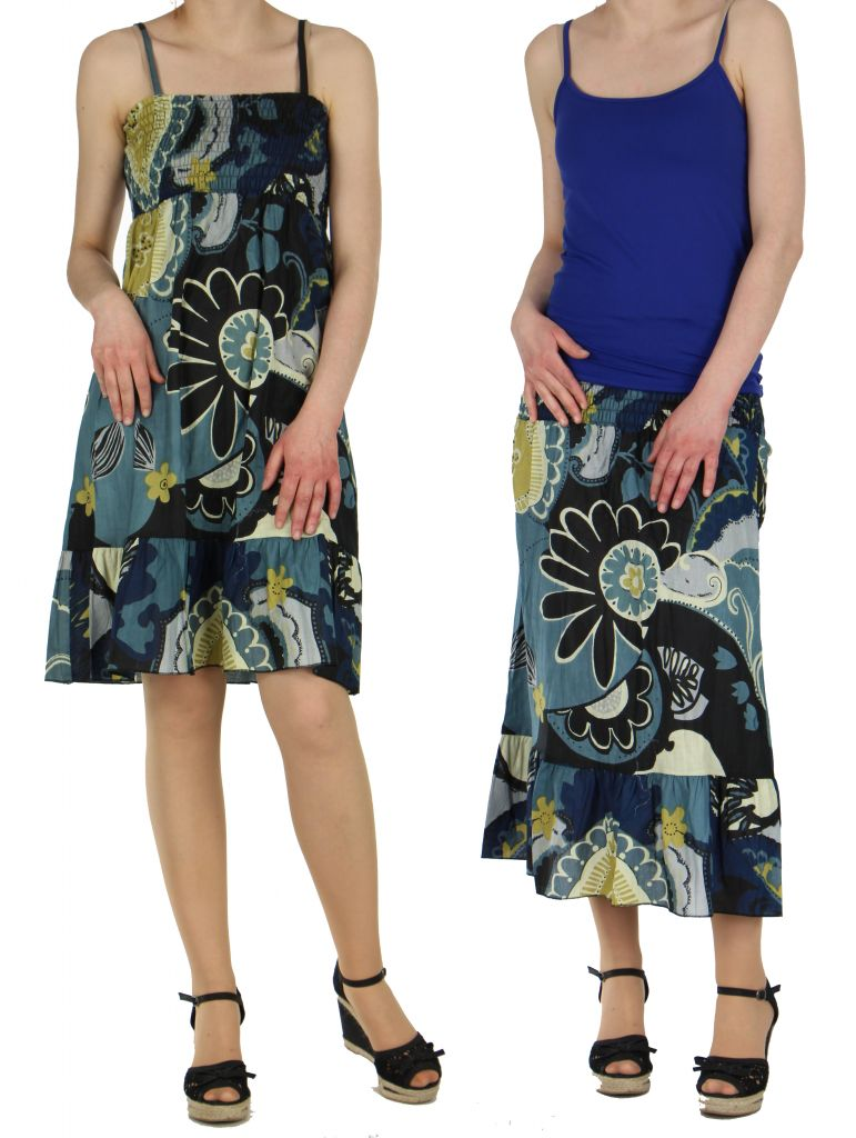 Robe ou jupe 2en1 imprimée maya 260252
