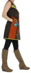 Robe ou Tunique colorée et originale Marron Flora 272738